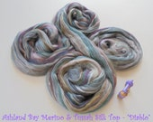 Diablo - Multicolor Merino & Tussah Silk Top from Ashland Bay - 2 oz of Multicolor Combed Top for Spinning or Felting