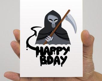 Birthday: Death Card