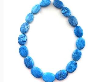 "Lapis Turquoise Multi Color Howlite Beads/ 17""Full Strand/"