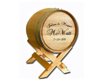 Wine Barrel Card Holder (BLB507)- (Wedding, Wine Barrel, Card Holder, Wedding Barrel, Wedding Gift, Groom Gift, Bride Gift)