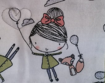 Little Fox Girl Crib Quilt