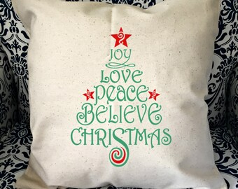 Christmas Pillow cover - Tree pillow - rustic Christmas theme - pillow cover -home decor - Christmas decor - Christmas home decor