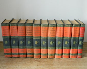 The Illustrated Encyclopedia. set of vintage books. circa 1950.