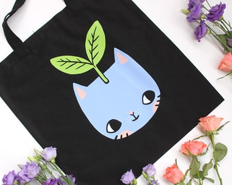 Plant Kitty Tote Bag