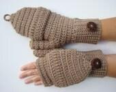 Convertible Fingerless Mittens, Honey Texting Mittens, Crochet Womens Flip Top Mittens, Winter Fashion, Cycling Mittens, Stylish Gloves