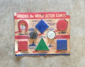 50's PEG PUZZLE GAMES - Mid Century // Game Night // Vintage Games // Retro // Plastic // New Old Stock