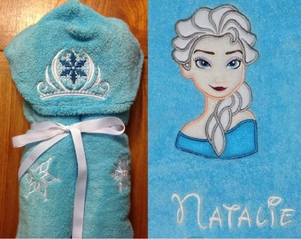 Ice Princess Hooded Towel - Free Personalization