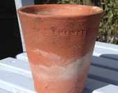 Terracotta plant pot, vintage clay flower pot, succulent planter, Sankey Bulwell