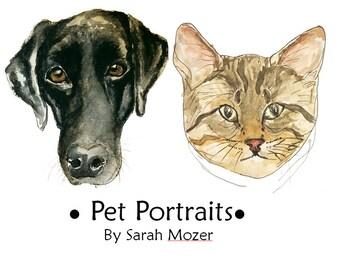 A5 Custom Pet Portrait Watercolour Illustration - Any Animal