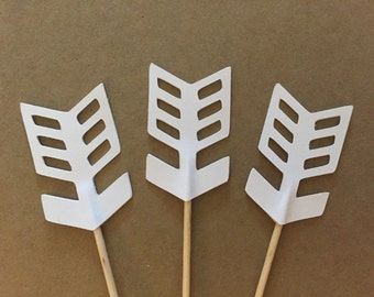 12 Arrows, southwest cupcake toppers-anchor appetizer picks, tribal arrow toppers
