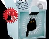 Purity Of Heart black cats ceramic mug POP UP