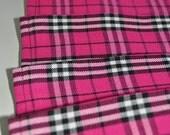 Baby Girls Kilt, 2-3 years. Hot Pink tartan Girls Kilt, Polyviscose, Machine washable. Handmade in Scotland.