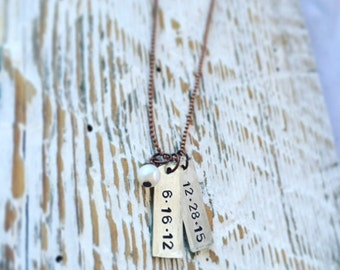 """EXTRA TAG for the """"date"""" necklace"""