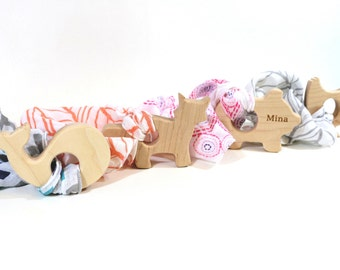 Baby Gift Set Wood Teether Lovey Blanket Baby Shower Gift Baby Girl Gift New Baby Gift Set New Baby Gift Newborn Gift Set Baby Boy Gift