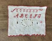 Antique redwork embroidery Sampler