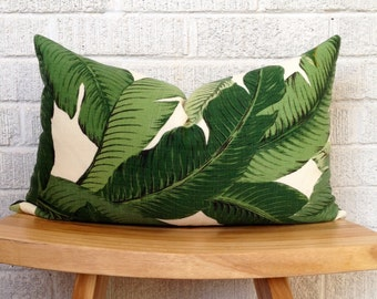 Swaying Palms Pillow Cover, Banana Leaf, Tropical, Bahama, Resort