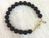 Rainbow Obsidian Bracelet - SECURITY - 1st Chakra - Gemstone ZEN Jewelry - Positive Energy Jewelry