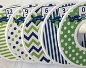 6 Custom Baby Closet Clothes Dividers Navy Green Planes Airplanes Transportation Baby Boy Infant Baby Shower Nursery Gift