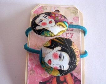 Beautiful Geisha Hair ties