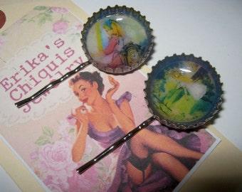 Alice in Wonderland  Bottle Cap Hair Pins 3