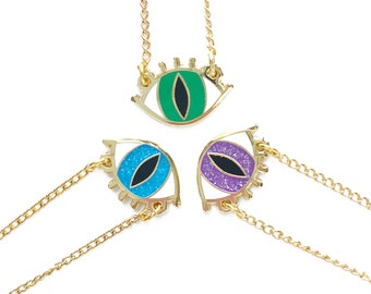 EYE NECKLACE - choose your color