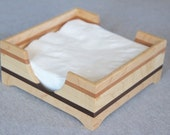 Handmade Wooden Napkin Holder Made out of Maple, Cherry, and Walnut - Free Shipping