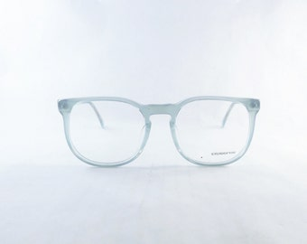 Womens Big Eyeglasses, Designer Glasses, Pale Icy Blue Green Semi-transparent 1980's Vintage Liz Claiborne Frames