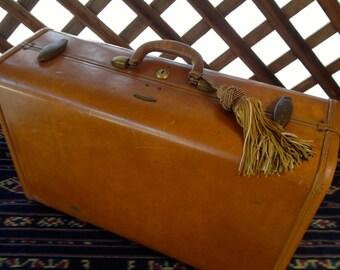 Vintage Boho Cool Samsonite Shwayder Brothers Leather Luggage,Large Size Luggage