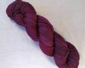 Amberle on Max 80/20 SW Merino Nylon Hand dyed fingering weight sock yarn