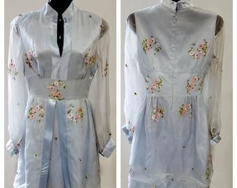 1960's Baby blue organza dress
