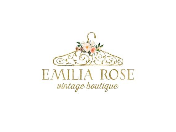 Premade Gold Boutique Logo Design Clothing Shop Logo