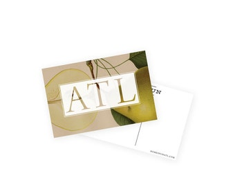 Atlanta ATL Vintage Art Card