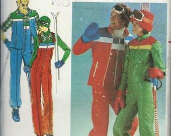Butterick 5111 Men's Ski Jacket, Ski Vest and Bibs Pattern, Size 42,  UNCUT