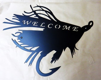 Fly Fishing Welcome Sign