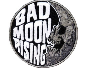"Freaky Patch ""Bad Moon Rising"" Kreepsville Scare Craft Apparel Iron-On Applique"