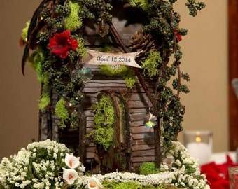 Custom  Memory Wedding Special occasion whimsical fairy house