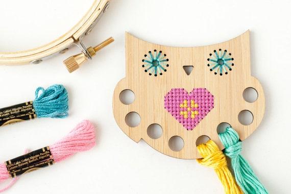 Owl thread keep diy kit embroidery floss organizer