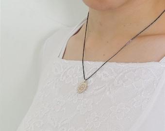 Pendant necklace, silver pendant, silver necklace, oxidized silver necklace, men and women necklace