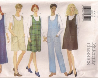 Butterick Sewing Pattern 5642 - Misses' Maternity Jumper and Jumpsuit