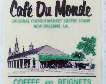 Cafe du Monde Beignet Cafe au Lait Coaster French Quarter New Orleans