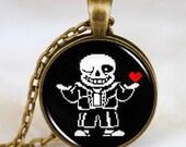 Pre- Order Undertale Sans or Flowey brass necklace