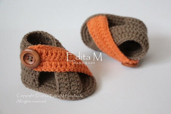 9eb665e53d1 85%OFF Crochet baby sandals baby gladiator sandals unisex baby ...