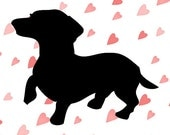 Dachshund SVG cutting file for Silhouette and Cricut with EPS and DXF
