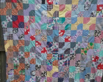 Flash Sale Old Quilt Top hand stitched perfect condotion