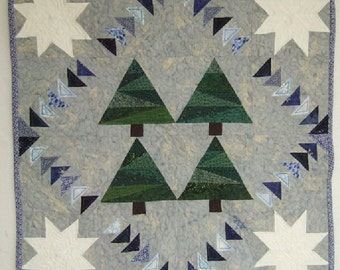 Quilt, Winter's Night Flight, Christmas, Holiday, Paper Piecing