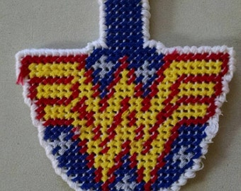 Cute, handmade, wonder woman keychain.