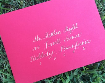 Wedding Calligraphy Addressing