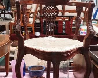 Antique Mahogany Corner Chair - SHIPPING is Not FREE! - Contact for a Shipping Quote.