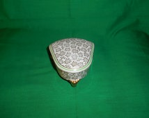 One (1), 3 Leg, Porcelain Dresser Box, from CID, Limoges, France.