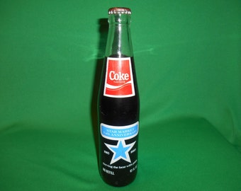 One (1), 10 oz. Coca Cola Bottle. Star Market, Boston, 70th Anniversary 1915-1985 Bottle.